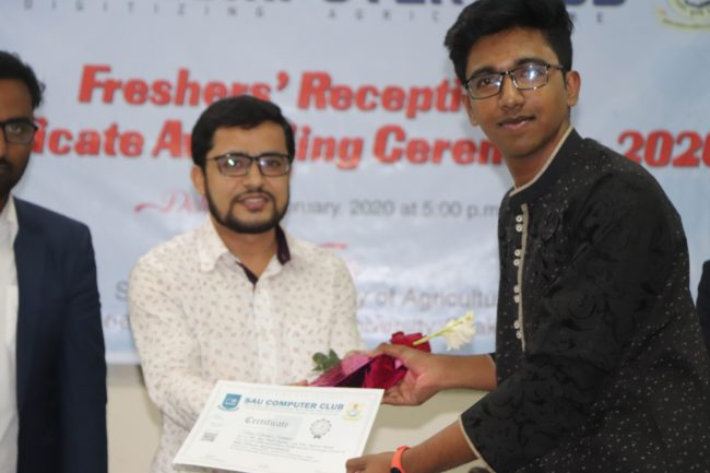 Prize and certificate giving for MS Office course 2019